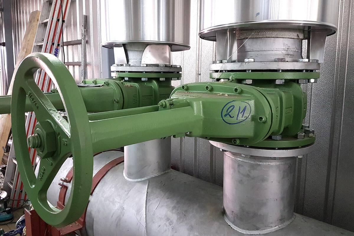 Dampfanlage für Trockenkammer